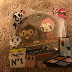 Brand new Tokidoki metal compact mirror